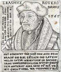 M-608 Portret van Desiderius Erasmus, humanist.