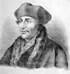 M-611 Portret van Desiderius Erasmus, humanist.