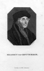 M-619 Portret van Desiderius Erasmus, humanist.
