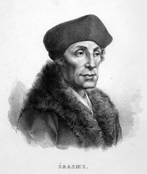 M-623 Portret van Desiderius Erasmus, humanist.