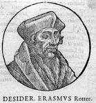 M-624 Portret van Desiderius Erasmus, humanist.