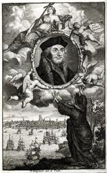 M-627 Portret van Desiderius Erasmus, humanist.