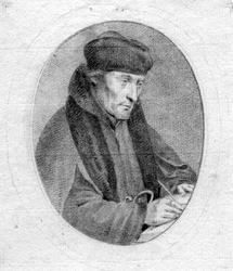 M-629 Portret van Desiderius Erasmus, humanist.