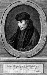 M-630 Portret van Desiderius Erasmus, humanist.