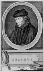 M-631 Portret van Desiderius Erasmus, humanist.