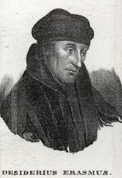 M-633 Portret van Desiderius Erasmus, humanist.