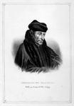 M-634 Portret van Desiderius Erasmus, humanist.