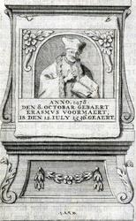 M-635 Portret van Desiderius Erasmus, humanist.