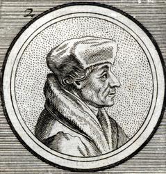 M-636 Portret van Desiderius Erasmus, humanist.