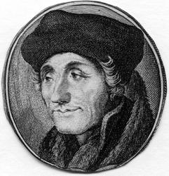 M-637 Portret van Desiderius Erasmus, humanist.
