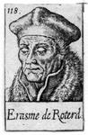 M-638 Portret van Desiderius Erasmus, humanist.