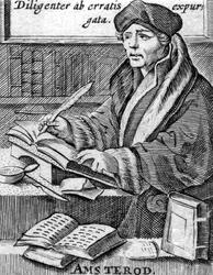 M-643 Portret van Desiderius Erasmus, humanist.