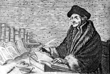 M-644 Portret van Desiderius Erasmus, humanist.