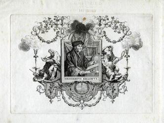 M-645 Portret van Desiderius Erasmus, humanist.