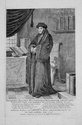 M-648 Portret van Desiderius Erasmus, humanist.