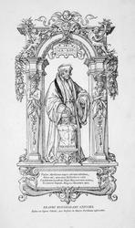 M-653 Desiderius Erasmus, humanist met het beeld van de god Terminus.