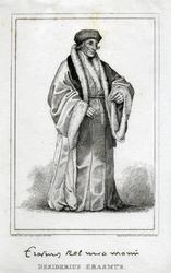 M-659 Portret van Desiderius Erasmus, humanist.
