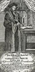 M-664 Portret van Desiderius Erasmus, humanist.