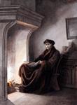 M-667 Portret van Desiderius Erasmus, humanist.