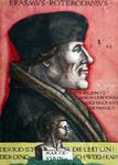 M-671-A Portret van Desiderius Erasmus, humanist. Onderaan een buste van de god Terminus.