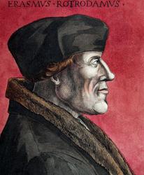 M-672 Portret van Desiderius Erasmus, humanist.
