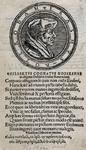 M-673 Portret in medaillon van Desiderius Erasmus, humanist.