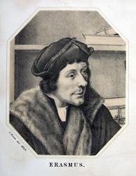 M-678-NB-2 Portret van Desiderius Erasmus, humanist.