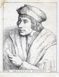 M-678-NB-4 Portret van Desiderius Erasmus, humanist.