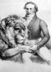 P-003025 Portret van Hermann van Aken, dierentemmer, eigenaar van een menagerie.