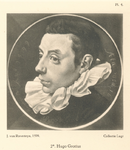 P-004926-4 Portret van Mr. Hugo de Groot, staatsman en rechtsgeleerde. Pensionaris van 1613 tot 1618 van Rotterdam.