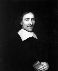 P-020346 Portret van Albertus Holthenus, remonstrantse predikant.