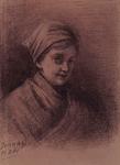P-020446 Zelfportret van Jacoba Antonie de Graaff, schilderes.