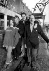 P-020708 Portret van Joris Boddaert, journalist en publicist over Rotterdamse onderwerpen, met zijn vrouw Catrien ...