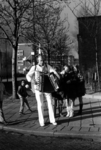 P-020814 Portret van Koperen Ko, bekende straatmuzikant.