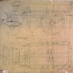 2003-511 ROTEB: Tekening van een vierwielige modderwagen.