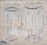 2003-512 ROTEB: Tekening van assen en veren van vuilniswagens: vooras en achteras van een ijzeren modderwagen; vooras ...