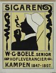 VII-0000-0010 Sigaren. W.G. Boele, senior Hofleverancier Kampen 1847-1897.