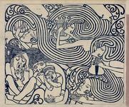 VII-0000-0110 [vergrote kopie van een prent, die in 1895 als affiche-ontwerpis gemaakt door Jan Toorop voor Johan ...