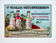 XI-0000-0001 St Nicolaas Natuurwaterbron n.v. Beyersbergen's Wijn- en Bierhandel, Princenhage. Limonade en minerale ...