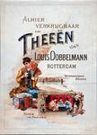 XI-0000-0023 Alhier verkrijgbaar en Theeën van Louis Dobbelmann Rotterdam. Waterhoudend en geurig. Thee in pakjes.