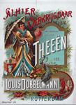 XI-0000-0029 Alhier verkrijgbaar thee in pakjes. Waterhoudende en geurige Theeën van Louis Dobbelmann. Rotterdam.