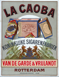 XI-0000-0075 La Caoba. Koninklijke Sigarenfabriek. Van de Garde & Vrijlandt Rotterdam.
