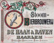 XI-0000-0077 Stoom Bierbrouwerij De Haan & Raven Haarlem. Stout, Ale Princesse, Faro, Oud enz. Witte Raaf.