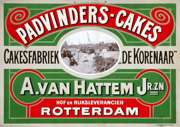 XI-0000-0100 Padvinders-Cakes. Cakesfabriek De Korenaar . A. van Hattem Jr. Zn. Rotterdam.