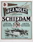 XI-0000-0117 A.C.A. Nolet Distillateur Schiedam Genièvre distilléde pure grains double rectifications. Jenever uit ...