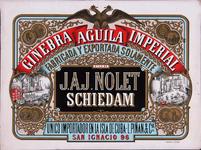 XI-0000-0119 Ginebra Aquila Imperial Fabricade y exportada solamente por J.A.J. Nolet Schiedam Unico importador en la ...