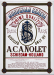 XI-0000-0120 Monogram Geneva Prime Quality Distilled only by A.C.A. Nolet Schiedam-Holland.
