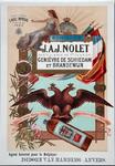 XI-0000-0121 Distillerie L'Aigle Impérial étallie en 1682. Schiedam. J.A.J. Nolet Distillerie de 1re classe Genièvre de ...