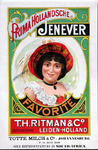 XI-0000-0130 Prima Hollandsche Jenever. Favorite. Th. Ritman & Co. Distillateurs Leiden-Holland.