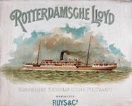 XI-0000-0134 Rotterdamsche Lloyd. Koninklijke Nederlandsche Postvaart. Hoofdagenten Ruys & Co.
